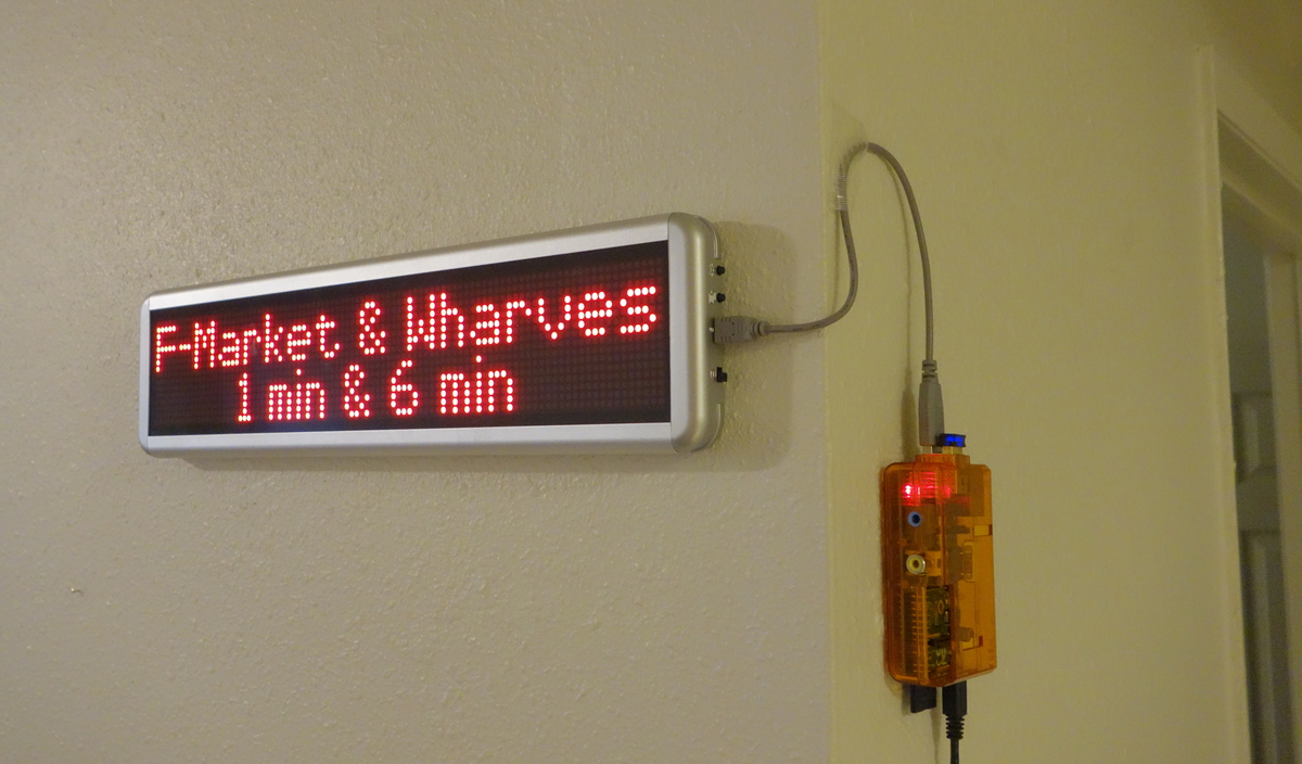 SF Muni LED Sign at Home with Raspberry Pi - A Foo walks into a Bar