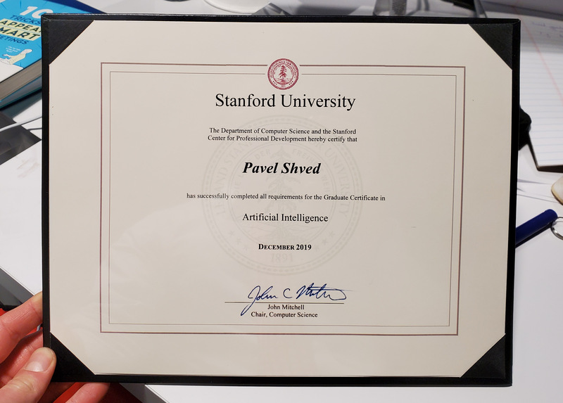 stanford certificate degree certified